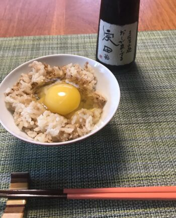 卵かけご飯とイワシ祭り
